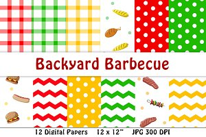 Backyard Barbecue Digital Papers