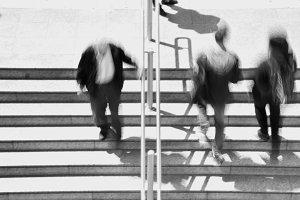 People Stairway Blur