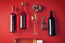cold bottles of wine