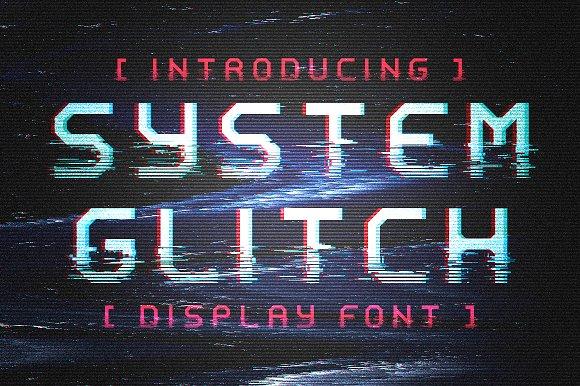 System Glitch Display Glitch Font
