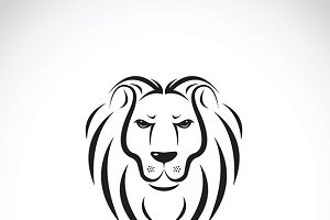 Vector of a lion head design.