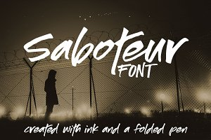 Saboteur: a moody inky font