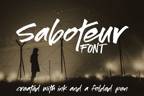 Saboteur A Moody Inky Font