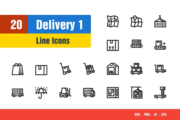 Delivery Shipping Icons #1