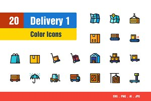 Delivery & Shipping Icons #1