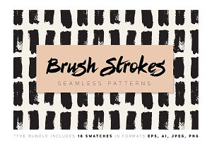 Brush Strokes Seamless Collection