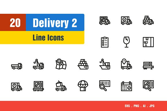 Delivery Shipping Icons #2