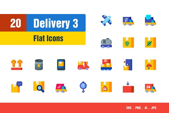 Delivery Shipping Icons #3