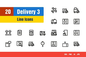 Delivery & Shipping Icons #3