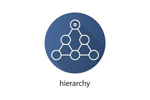 Hierarchy flat linear long shadow icon