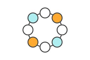 Circle symbol color icon