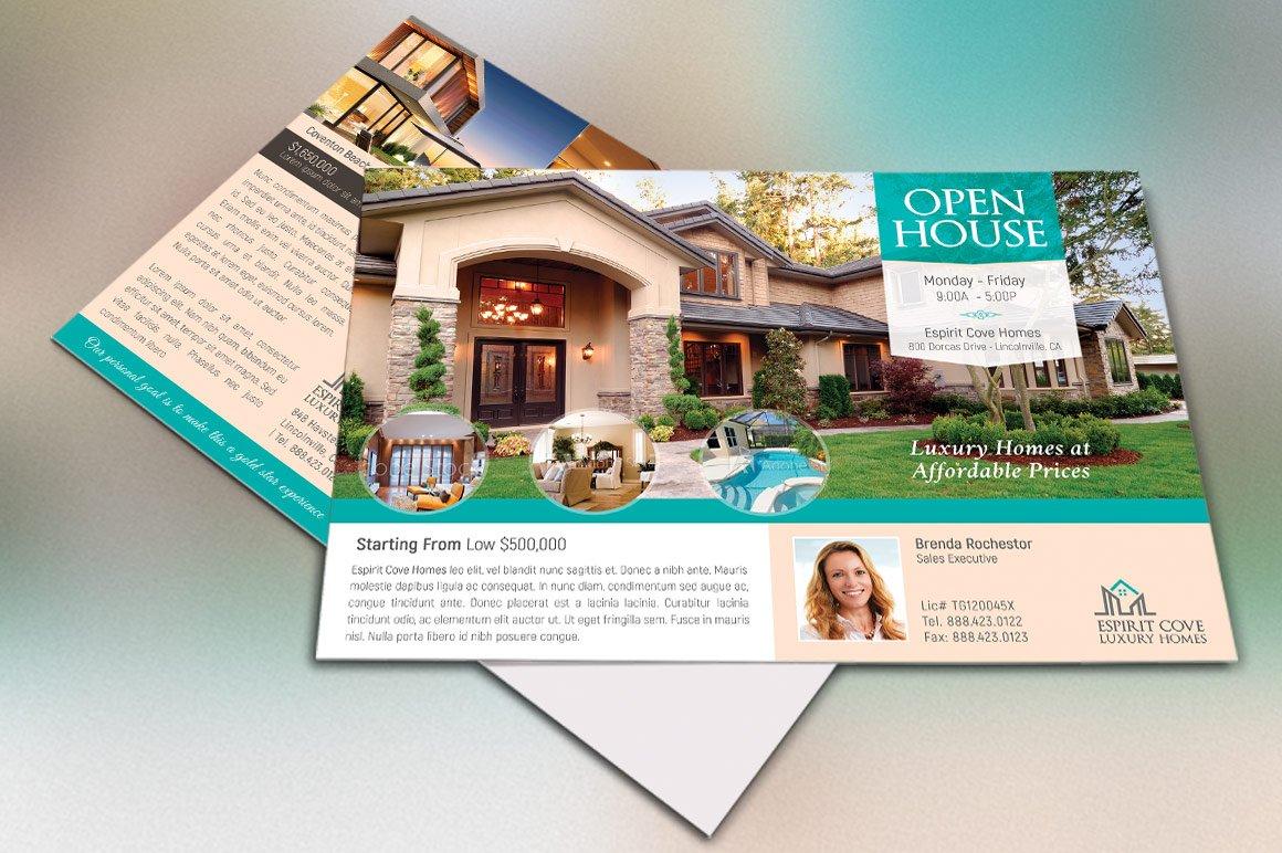 real estate eddm postcard template flyer templates creative market. Black Bedroom Furniture Sets. Home Design Ideas