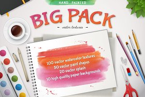 Big watercolor textures pack