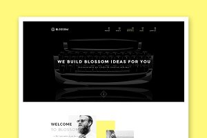 Blossom - Minimal HTML Portfolio