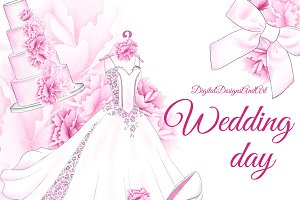 Wedding day clipart