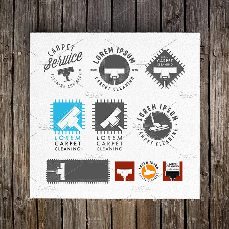 Carpet cleaning emblems and logos ~ Logo Templates ...