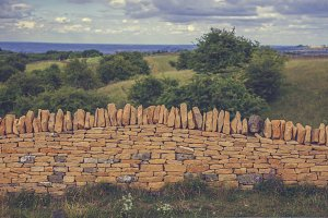 Dry stone wall in England