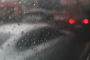 Raindrops, Bus window