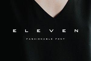 ELEVEN - SANS SERIF FONT