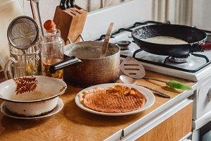 traditional homemade pancakes