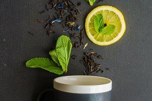 Organic floral tea