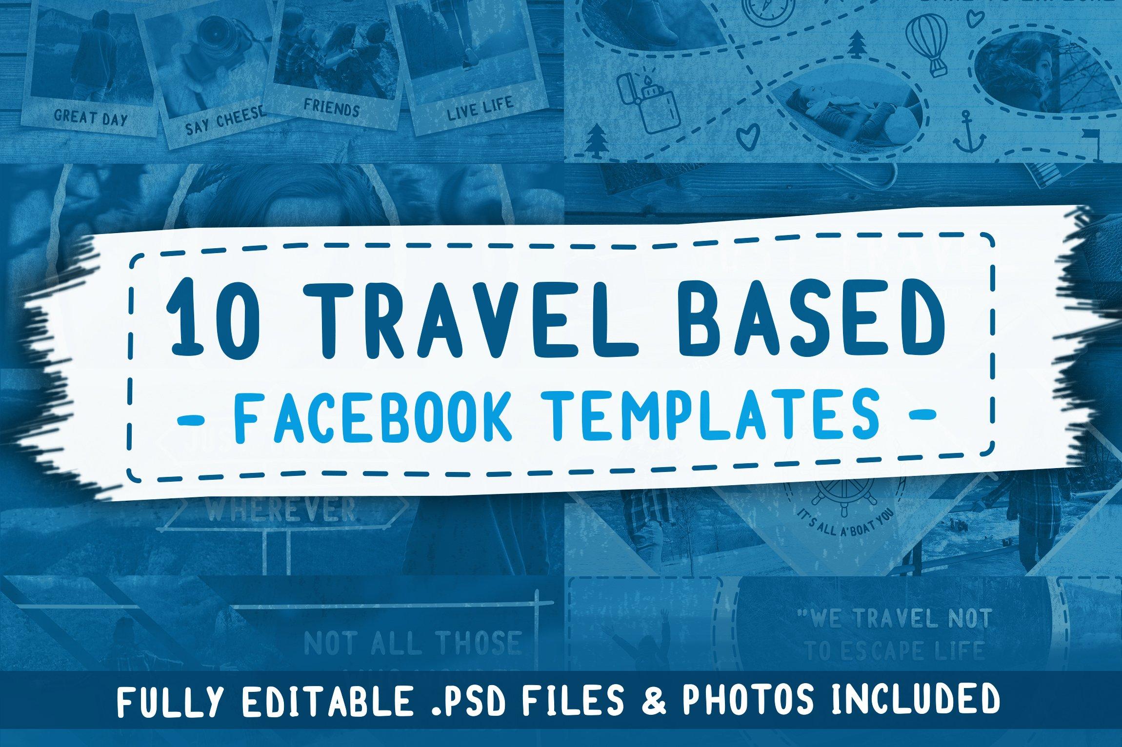 travel based psd facebook templates facebook templates creative