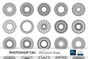 100 Geometric Costum Shapes - CSH