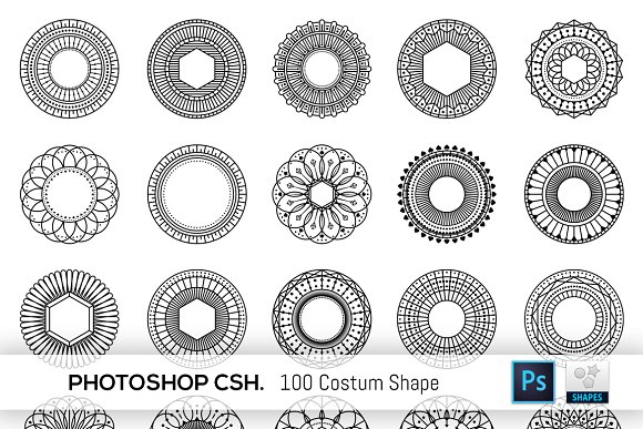 100 Geometric Costum Shapes CSH