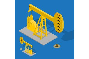 Oil Pump Energy Industrial. Vector