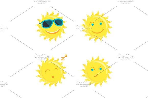 Sun Faces Set