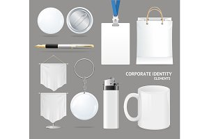 Corporate Identity Empty Blank Set