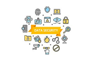 Data Security and Safe Icon Set