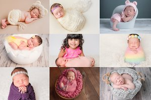 Bright & Airy Newborn Editing Bundle