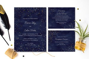 Starry Wedding Invitation Collection