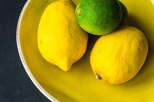 Organic food concept with lemons