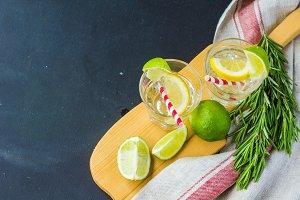 organic lemonade with rosemary