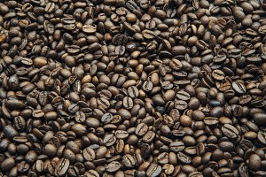 Coffee Beans Texture Background