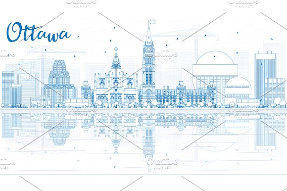 Outline Ottawa Skyline
