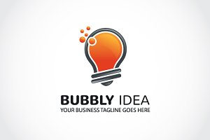bubbly idea Logo Template