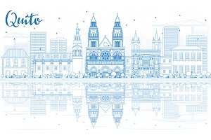 Outline Quito Skyline