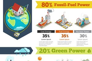 Fossil-fuel power infographics