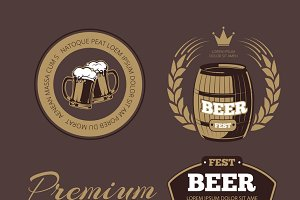 Beer labels for posters and banners