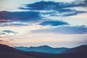 sunrise in montain landscape