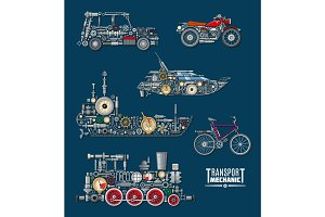 Transport vehicles vector mechanics and mechanisms