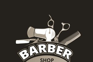 Barber shop vintage background