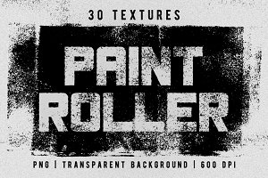 Set of 30 paint roller textures