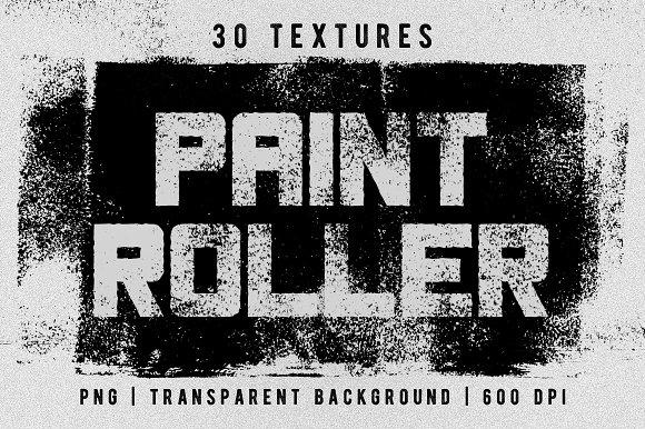 Set of 30 paint roller textures