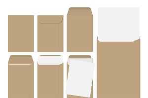 Vector brown envelopes with paper