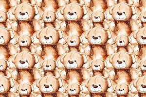 Cartoon Teddy Bear seamless pattern