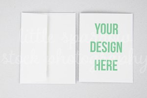 Simple Greeting Card Mock Up